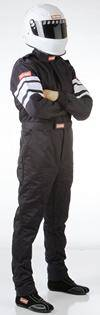 Driving Suits - Racequip Double Layer Suits - Racequip - 3X-Large Racequip 1 Piece Double Layer Suit-Black