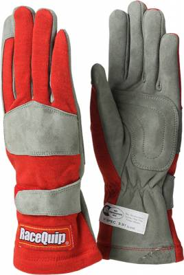 Safety & Seats - Driving Gloves - Racequip - 351 Series Single Layer Small Glove-Red