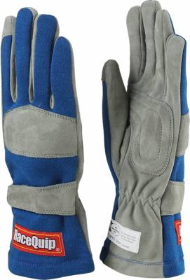 Safety & Seats - Driving Gloves - Racequip - 351 Series Single Layer Small Glove-Blue