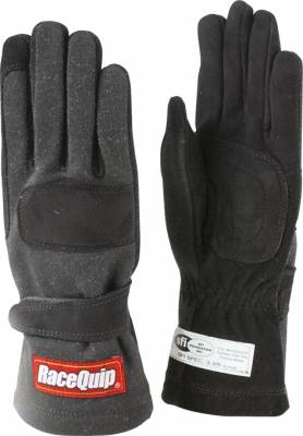 Safety & Seats - Driving Gloves - Racequip - 355 Series Double Layer Medium Glove-Black