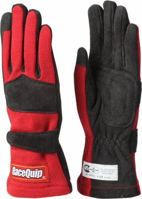 Safety & Seats - Driving Gloves - Racequip - 355 Series Double Layer Small Glove-Red