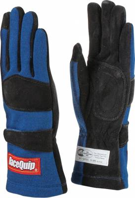 Safety & Seats - Driving Gloves - Racequip - 355 Series Double Layer Medium Glove-Blue