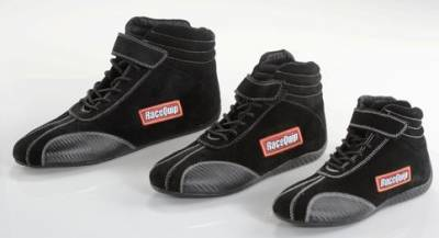Safety & Seats - Youth Safety Gear - Racequip - Size 4.0 Youth Euro Carb-L SFI 3.3/5 Driving Shoe