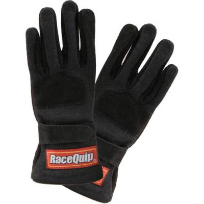 Safety & Seats - Youth Safety Gear - Racequip - Youth Medium SFI 3.3/5 Rated 2 Layer Driving Gloves-Black