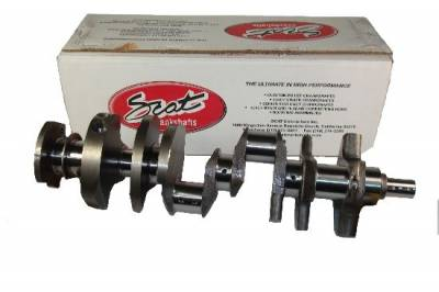 "Crankshafts - SCAT Pro Stock Cast Steel Crankshafts - Scat - Scat Cast Steel 383 SB Chevy-2 piece rear main-5.7"" rod-3.750"" stroke"