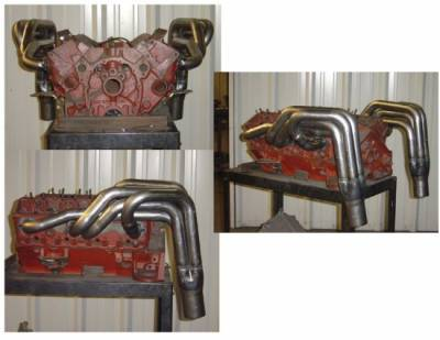 "Headers & Exhaust  - Circle Track Headers - Schoenfeld - New IMCA Stock Car Header- 1 5/8"" - 1 3/4"" Tube-3"" x 9"" Collector"