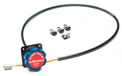 Wilwood - Wilwood 340-4990 Blue/Black Remote Balance Bar Brake Bias Adjuster 5 Foot Cable