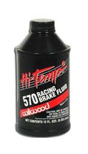 Wilwood - Wilwood 290-0632 Hi-Temp 570° Racing Brake Fluid 12 oz Bottle