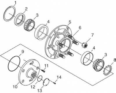 Transmission & Drivetrain - Transmissions & Accessories - Winters - Grand National Hub Components - Drive flange bolt