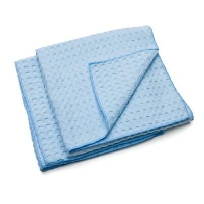 Car Detailing - Car Wash - Adams Premium Car Care - Blue Microfiber Waterless Waffle Wash Towels-2 Pack