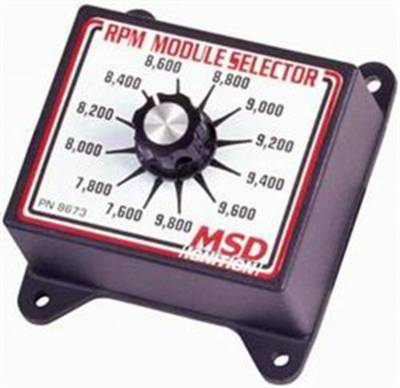 Ignition Boxes, Modules & Rev Limiters - Rev-Limiters & RPM Module Selectors - MSD - MSD 8673 RPM Module Selector 7600 to 9800 RPM