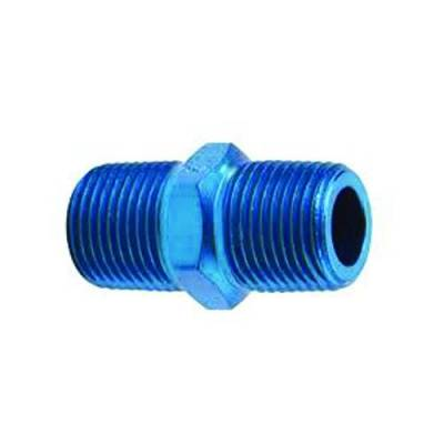 Aluminum AN Fittings - Male Pipe Nipple Fittings - Fragola - 3/8 MPT PIPE NIPPLE