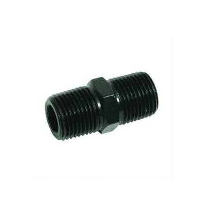 Aluminum AN Fittings - Male Pipe Nipple Fittings - Fragola - 1/4 MPT PIPE NIPPLE BLACK
