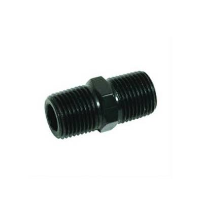 Aluminum AN Fittings - Male Pipe Nipple Fittings - Fragola - 3/8 MPT PIPE NIPPLE BLACK
