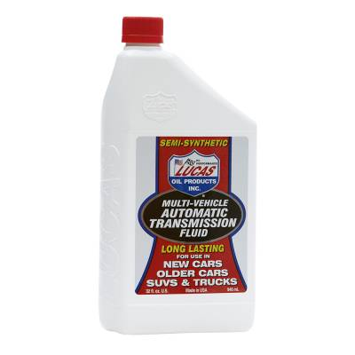Oil, Fuel, Fluids, & Cleaners - Transmission Fluid - Lucas Oil - Lucas Multi-Vehicle ATF - 1 Quart