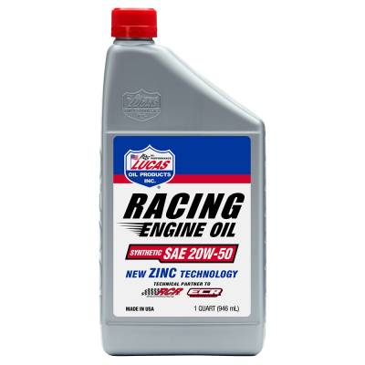 Oil, Fuel, Fluids, & Cleaners - Engine Oil - Lucas Oil - Synthetic SAE 20W-50 Racing Oil - 1 Qt.