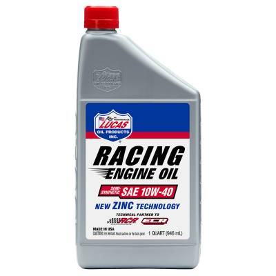 Oil, Fuel, Fluids, & Cleaners - Engine Oil - Lucas Oil - Semi-Synthetic 10W-40 Racing Oil - 1 Qt.