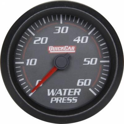 Gauges & Accessories - Water Temp & Pressure Gauges - Quick Car - QuickCar 63-008 Redline LED Lit Black Face Water Pressure Digital Gauge