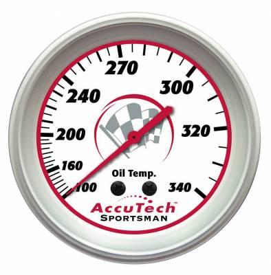 "Longacre - 2 5/8"" Accutech Sportsman Oil Temp Gauge 100-340 Degree"