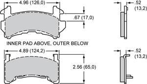 Wilwood - Wilwood 15C-4420K PolyMatrix C Brake Pads GM Metric D154 Street / Off Road - Image 2