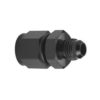 Aluminum AN Fittings - AN Female to AN Male Reducer - Fragola - -12AN Female to -8AN Male Reducer- Black