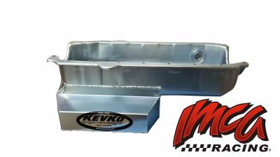 "Oil Pans - Circle Track Oil Pans - Kevko - 7 1/4"" Deep Modified Style Oil Pan-1 Piece Rear Main Seal-Inspection Hole"