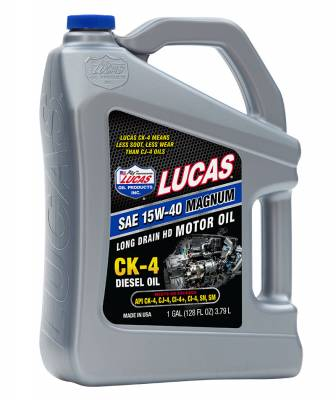 Oil, Fuel, Fluids, & Cleaners - Engine Oil - Lucas Oil - Lucas Oil CK-4 Diesel Engine Oil 5W-40 - 1 Gallon