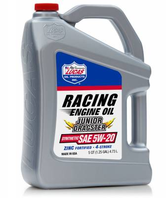 Oil, Fuel, Fluids, & Cleaners - Engine Oil - Lucas Oil - LUCAS OIL 10471 Junior Dragster Racing Oil 5W-20 - 5 Quart Jug