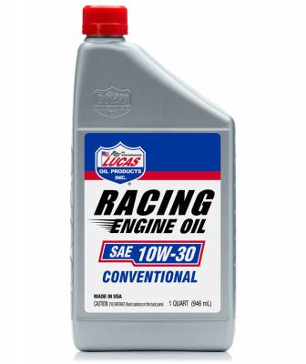 Oil, Fuel, Fluids, & Cleaners - Engine Oil - Lucas Oil - Lucas Oil Racing Only 10W30 Conventional Motor Oil - 1 Quart