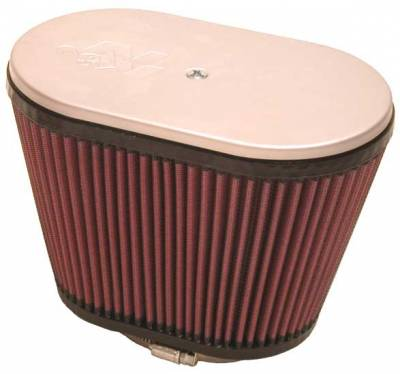 """K&N Engineering - K&N Universal Clamp-On Air Filter Oval Style Stacks for ?Late Type? Hilborn Siamese Stacks  2-1/4"""" Tube"""
