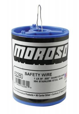 "Moroso - Moroso 62280 1 LB .032"" Safety Wire 304 Stainless Steel"