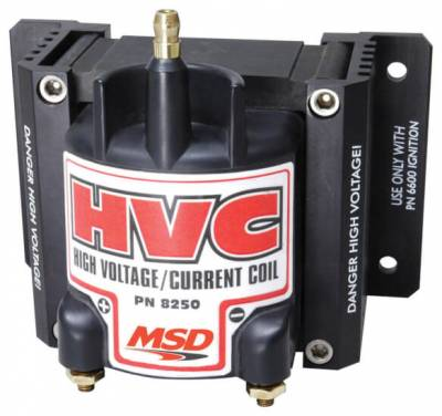 Ignition & Electrical - Ignition Coils - MSD - MSD 8250 6 HVC E-Core Style High-Voltage Igntion Coil Professional Racing Series