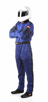 Driving Suits - Racequip Double Layer Suits - Racequip - RaceQuip 120025 120 Series SFI 3.2A/1 Multi-Layer One-Piece Driving Suit Blue Large