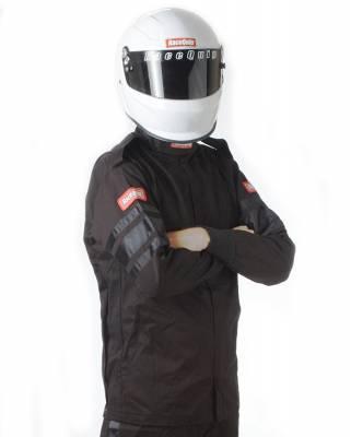 Racequip - RaceQuip 111005 111 Series SFI 3.2A/1 Single Layer Driving Jacket Large-Black