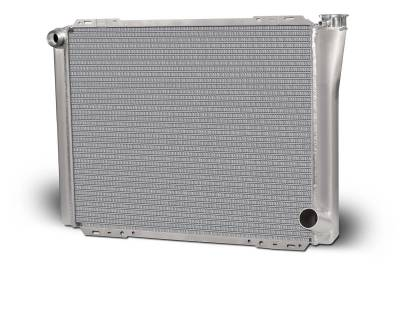 """Cooling - Radiators - AFCO - AFCO 80127N-16 24"""" x 19"""" GM Single Pass Aluminium Radiator with -16AN Inlet IMCA"""