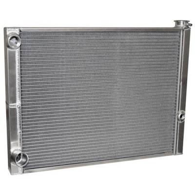 AFCO  80185FNDP-16  Ford 27.5x19 Single Row Double Pass Aluminum radiator -16 Inlet