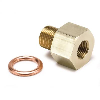 """Auto Meter Products Inc. - Auto Meter 2277 Metric Adapter Fitting 1/8"""" NPT Female x 12mm x 1.5 Male"""