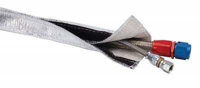 "Design Engineering - DEI 010405 Heat Shroud - Aluminized Sleeving for Ultimate Heat Protection (with Hook and Loop Closure) ' 0.5"" - 1.25"" x 3'''"