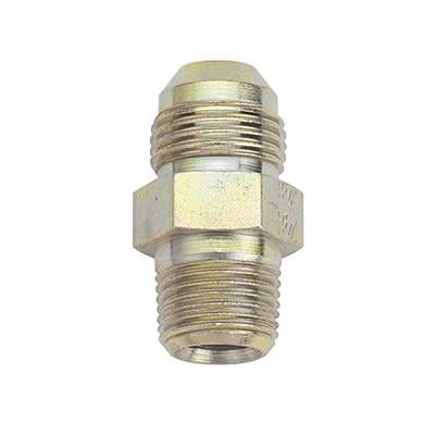 "Aluminum AN Fittings - Male Connector AN to Pipe Fittings - Fragola - Fragola 581607 -8 AN Male to 1/4"" NPT Male Steel Zinc Plated Fitting"