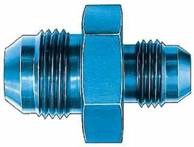 Aluminum AN Fittings - Male Flare Reducer Fittings - Aeroquip Performance Products - Aeroquip FCM2162 Union Reducer Fitting -10 AN to -6 AN Blue Anodized Aluminum