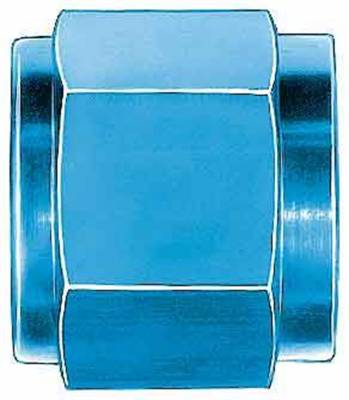 Aluminum AN Fittings - Tube Nuts - Aeroquip Performance Products - Aeroquip FCM3677 -10 AN Tube Nut (2 Per Pkg) Blue Anodized Aluminum