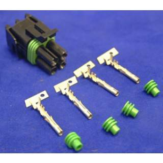 Ignition & Electrical - Wiring Harnesses, Relay Kits, Etc. - American Autowire - American Autowire 500314 Female 4 Way Weather-PAC Connector