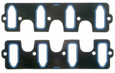 """Engine Gaskets - Intake Gaskets - Fel-Pro Gaskets - Fel-Pro 1312-2 LS1-LS6 Perfromance Intake Manifold Gasket Set .045"""" Thick Cathedral Port"""