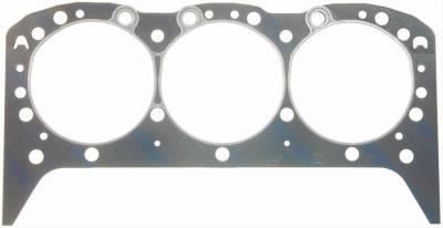 "Engine Gaskets - Cylinder Head Gaskets - Fel-Pro Gaskets - Fel-Pro 1002 Cylinder Head Gasket Fits GM 4.3L V6 Steel Core Laminate - 4.166 x0.041"""