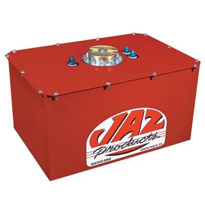 "JAZ Products - JAZ 270-022-06 22 Gallon Pro Sport Fuel Cell w/ D-Ring Cap 25.6"" x 25.6"" x 9.25"" -8AN Fittings"