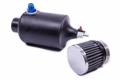 JAZ Products - Jaz 605-825-01 1 Quart Crankcase Breather Filter w/Reusable Breather & Petcock Drain -8AN Fitting