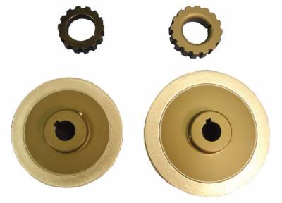 BLP Products - BLP Products 7103-16L050 16 Tooth L050 Aluminum Fuel Pump Drive Gear and Mandrel