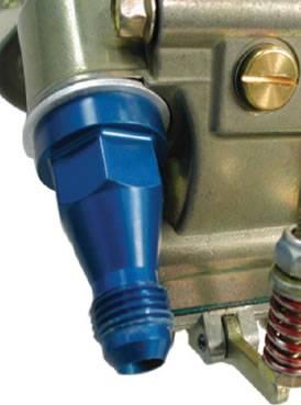 Carburetor Fuel Inlet Lines & Fittings - Carburetor Fittings - BLP Products - BLP Products 75304 8 AN Braswell Style Fuel Log Inlet Fitting Female Swivel