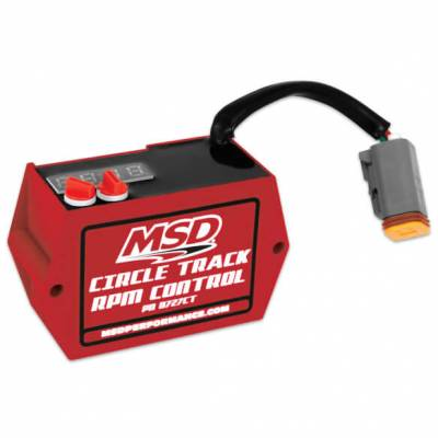 Ignition Boxes, Modules & Rev Limiters - Rev-Limiters & RPM Module Selectors - MSD - MSD 8727CT Circle Track Digital SoftTouch Rev Limiter for HEI ignition IMCA USRA