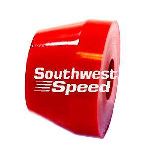 "Southwest Speed - Southwest Speed 570-740 2.125"" OD Red Medium 70 Durometer Rubber Torque Link Biscuit Bushing"